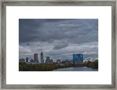 Indianapolis Indiana Skyline N Storm Framed Print by David Haskett