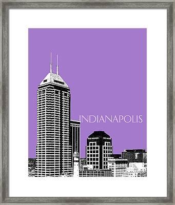 Indianapolis Indiana Skyline - Violet Framed Print