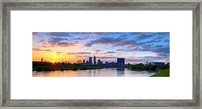 Indianapolis Indiana Sunrise Panoramic Hdr Framed Print