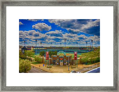 Indianapolis Indians Victory Field Framed Print by David Haskett