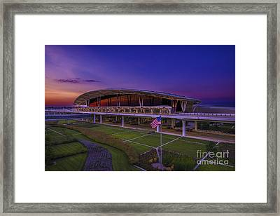 Indianapolis International Airport Sunset Alpha Framed Print by David Haskett