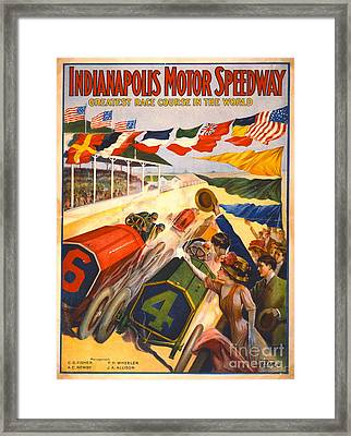 Indianapolis Motor Speedway 1909 Framed Print by Padre Art