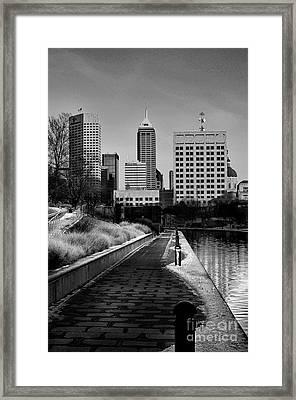 Indianapolis Skyline 21 Framed Print by David Haskett
