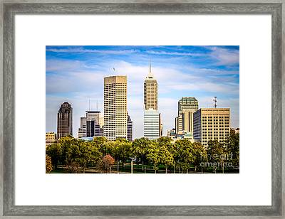 Indianapolis Skyline Picture Framed Print by Paul Velgos