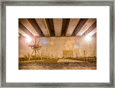 Indianapolis Skyline Framed Print by Semmick Photo