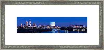 Indianapolis Skyline Framed Print by Twenty Two North Photography