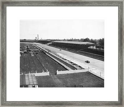 Indianapolis Speedway Trials Framed Print by Underwood Archives