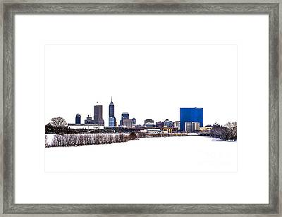Indianapolis White Out Framed Print by David Haskett