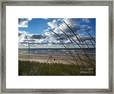 Indiana Dunes' Lake Michigan Framed Print by Pamela Clements