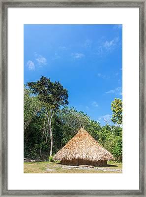 Indigenous Hut Framed Print by Jess Kraft