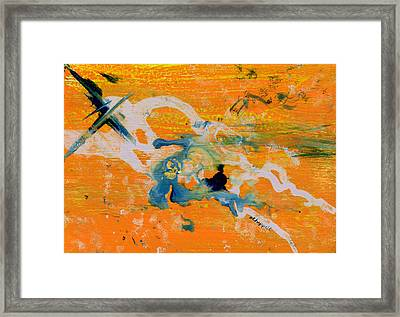 Indigo And Gold Framed Print