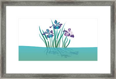 Indigo Iris Framed Print