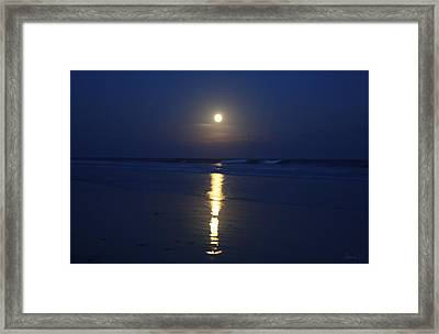 Indigo Moon Framed Print