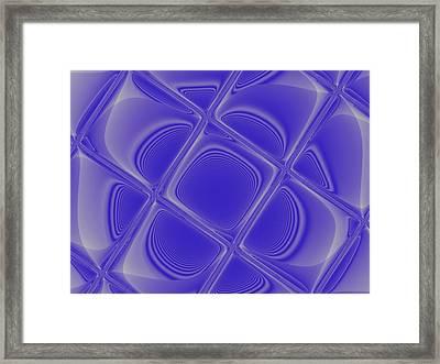 Indigo Petals Morphed Framed Print by Pharris Art