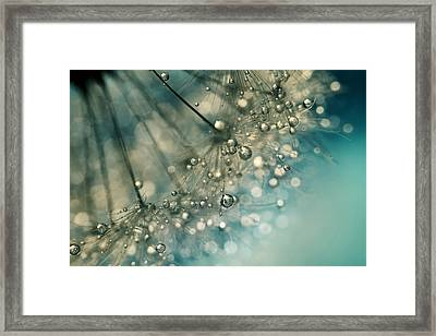 Indigo Sparkles Framed Print