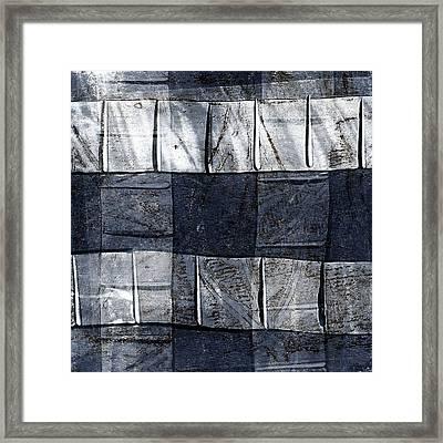 Indigo Squares 1 Of 5 Framed Print