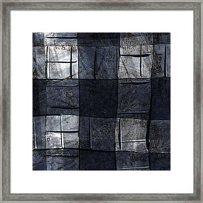 Indigo Squares 4 Of 5 Framed Print