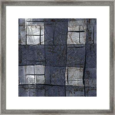 Indigo Squares 5 Of 5 Framed Print