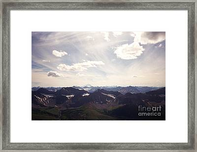 Framed Print featuring the photograph Indigo Vista by Devin  Cogger
