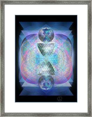 Indigoaurad Chalice Orbing Intwined Hearts Framed Print