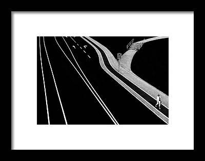 Sidewalk Framed Prints