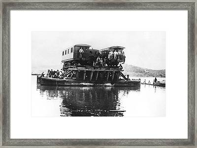 Indochina Train Ferry Framed Print by Underwood Archives