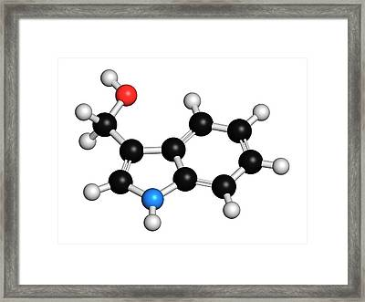 Indole-3-carbinole Molecule Framed Print