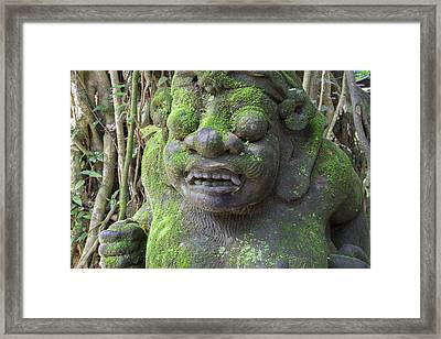 Indonesia, Bali Temple Statue Framed Print