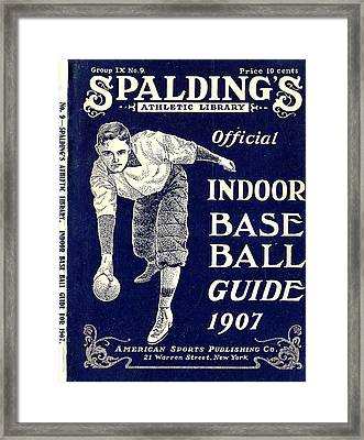 Indoor Base Ball Guide 1907 Framed Print by American Sports Publishing