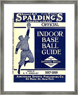 Indoor Base Ball Guide 1907 II Framed Print by American Sports Publishing