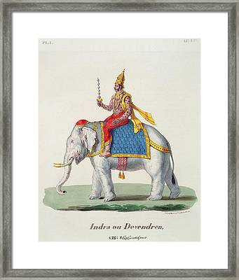 Indra Or Devendra, From Linde Framed Print by French School