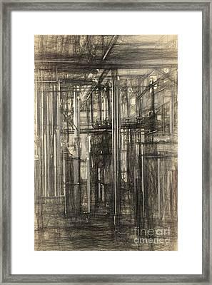 Industrial Abstract Framed Print by Carsten Reisinger