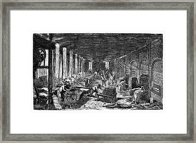 Industrial Bakery Framed Print by Science Photo Library