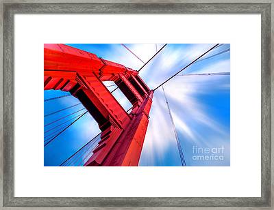 Industrial Boom Framed Print by Az Jackson