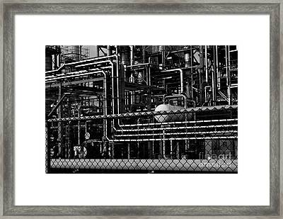 Framed Print featuring the photograph Industrial Chaos by Maja Sokolowska