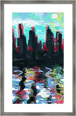 Industrial City On A River  Framed Print by Paul Sutcliffe