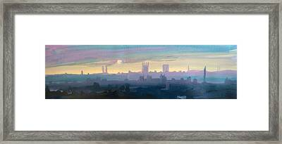 Industrial City Skyline 1 Framed Print by Paul Mitchell