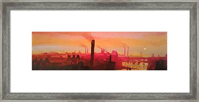 Industrial City Skyline 2 Framed Print by Paul Mitchell