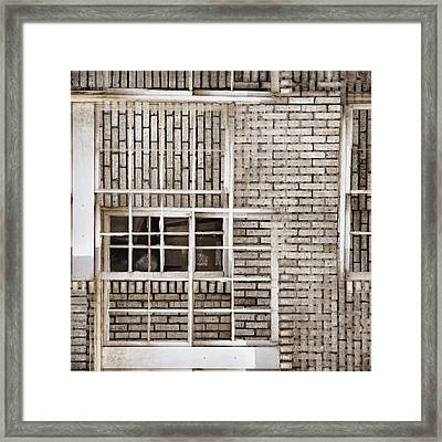 Industrial District Abstract Number 1 Framed Print by Carol Leigh