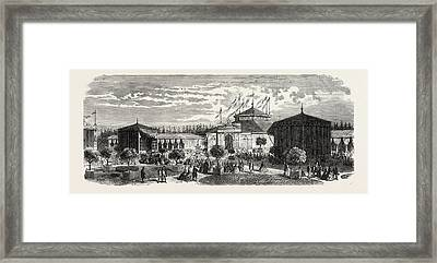 Industrial Exhibition At Chaumont, Haut Marne Framed Print by French School