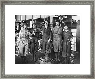 Industrial Factory Workers Framed Print by Hagley Museum And Archive