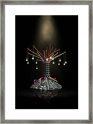 Industrial Future Tree Framed Print by Allan Swart