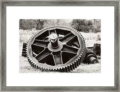Industrial Gear Framed Print by Scott Pellegrin