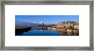Industrial Landscape Along Rogue River Framed Print by Panoramic Images