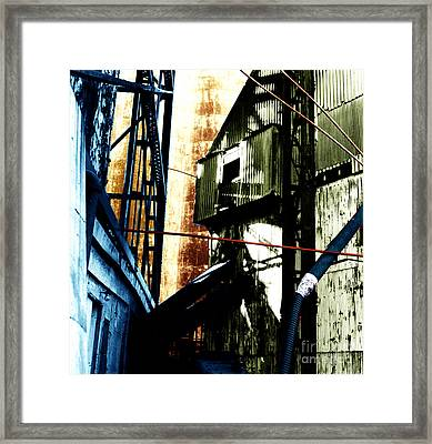 Industrial Landscape Framed Print by Sandy MacNeil