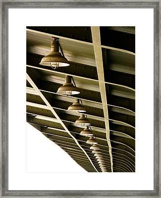 Industrial Lights Framed Print by Randi Kuhne