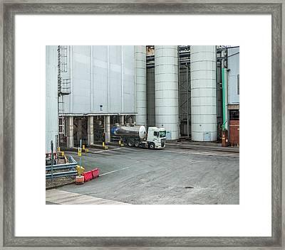 Industrial Loading Silos Framed Print