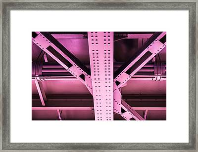 Industrial Metal Purple Framed Print by Alexander Senin