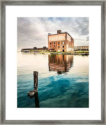 Industrial - Old Buildings - Build To Suit Framed Print by Gary Heller