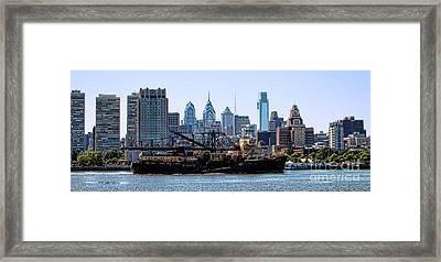 Industrial Philadelphia Framed Print by Olivier Le Queinec